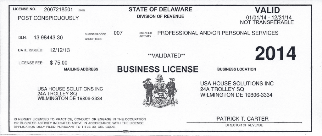 business license work and travel